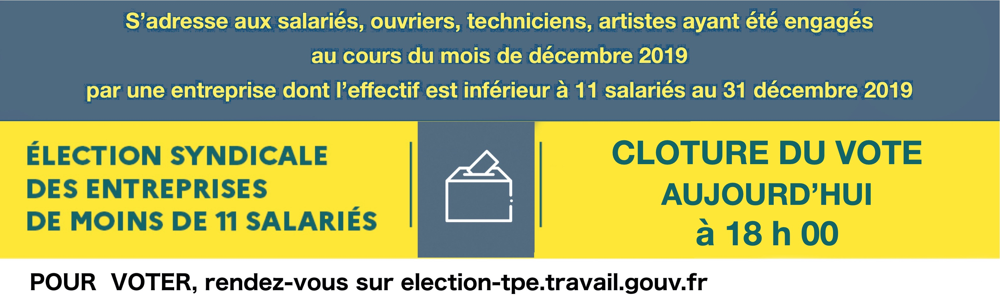 Annonce Elections TPE